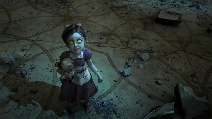 Em BioShock, jogador podia escolher entre preservar, ou eliminar, as Little Sister (Foto: Reprodução/YouTube)