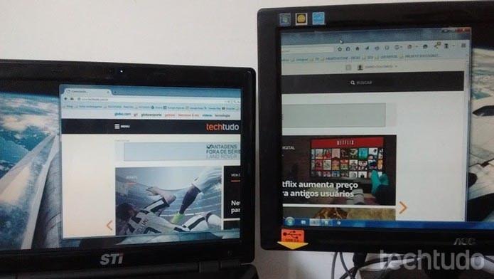 Veja como usar o notebook como segundo monitor do seu PC  (Foto: Dario Coutinho/TechTudo)