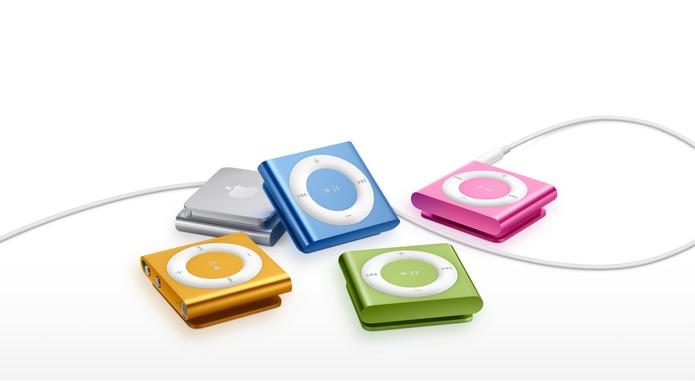 iPod Shuffle pode ser pendurado na roupa de forma simples e tem opções coloridas (Foto: Divulgação/Apple)