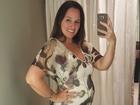 Mariana Belém mostra barriga de quatro meses de gestação