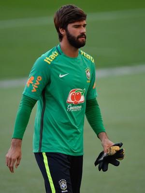 Alisson durante treino da Seleção (Foto:  Pedro Martins / MoWA Press)