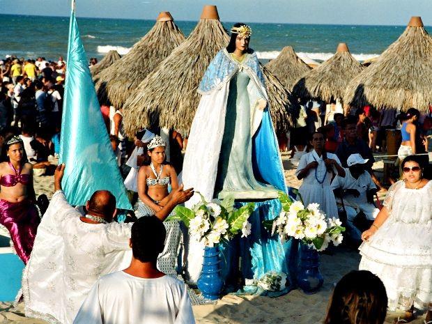Festejos de Yemanjá ocorrem neste fim de semana em Fortaleza (Foto: Éden Barbosa/ Secultfor)