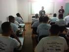 'Novo caminho', diz detento durante curso (Jéssica Alves/G1)