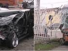 Motorista de carro na contramão morre após bater de frente em ônibus