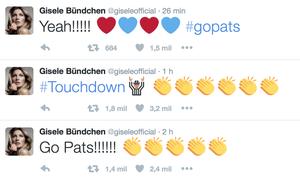 Gisele  Bündchen twitter NFL New England Patriots Kansas Chiefs (Foto: Reprodução Twitter)
