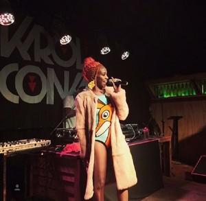 Karol Conka arrasando em sua turnê (Foto: Arquivo Pessoal)