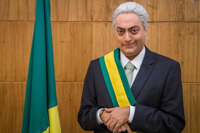 Fernando Caruso caracterizado para um esquete do 'Zorra' (Foto: Globo/ Paulo Belote)