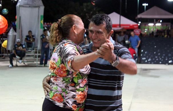 O público participou de um desafio de dança (Foto: Rede Clube)