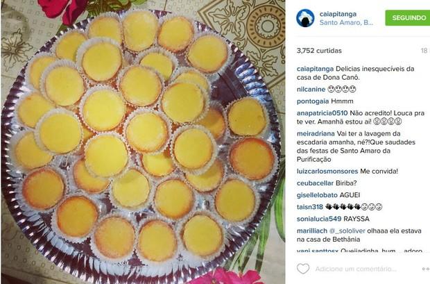 Camila Pitanga almoça na casa de Maria Bethância mostra doces típicos em rede social (Foto: Reprodução do Instagram)