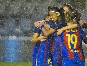 Andressa Alves comemora gol pelo Barça