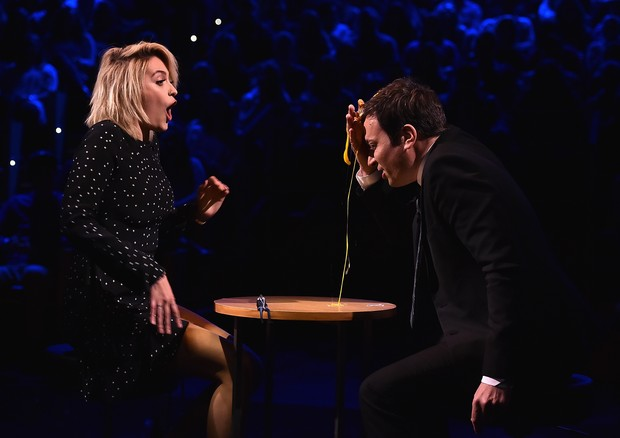 Paris Jackson e Jimmy Fallon (Foto: Getty Images)
