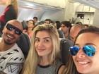 Fernando Medeiros e Aline Gotschalg viajam juntos para a Bahia