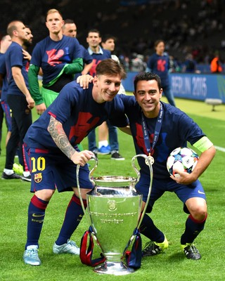 Messi Xavi Barcelona (Foto: Getty Images)