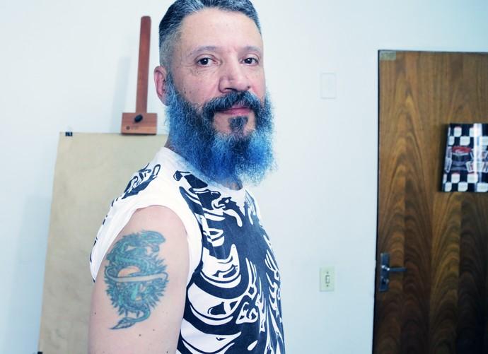 Laércio é designer de tatuagem (Foto: João Mello / Gshow)