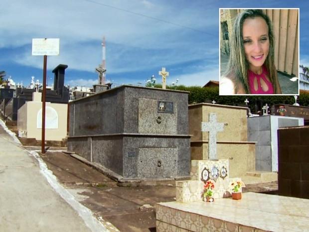 Disparos aconteceram durante enterro da jovem em São Gonçalo do Sapucaí (Foto: Reprodução EPTV)