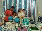 Aline Barros comemora o aniversário do filho em clima de futebol