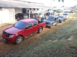 Seis veículos foram apreendidos na operação conjunta (Foto: Divulgação/Receita Federal)