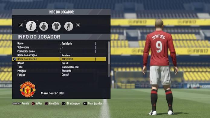 Fifa 17  aprenda a criar um jogador com suas características (Foto   Reprodução  6e0faed7f733a