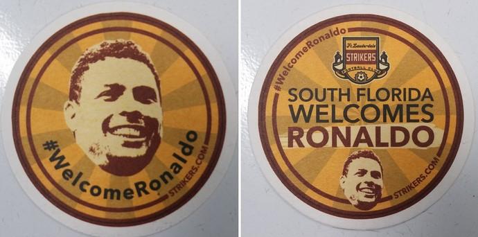 Ronaldo Fort Lauderdale Strikers brinde (Foto: Jorge Natan)