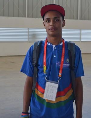 Francisco Mendes, luta olímpica, Jogos Escolares da Juventude, certo (Foto: Rammom Monte / Globoesporte.com/pb)