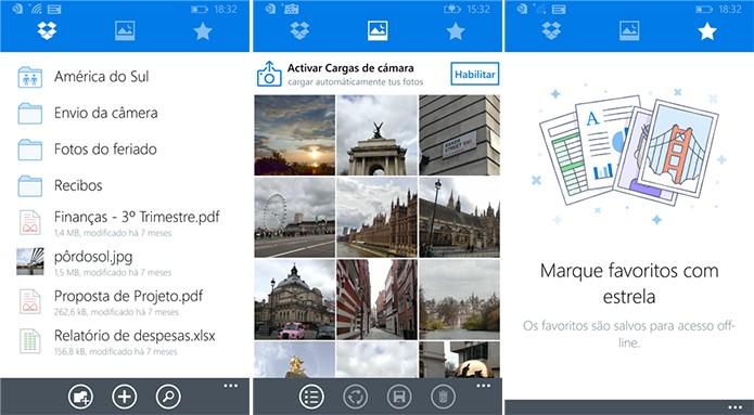 Dropbox para Widnows Phone ganhou uma repaginada e se tornou um aplicativo universal (Foto: Divulgação/Windows Phone Store)