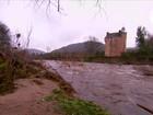 Inundações ameaçam castelo do século 16 na Escócia