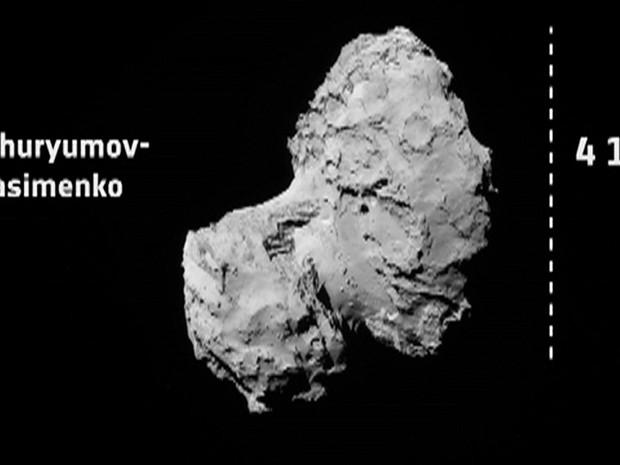 """Uma das teorias sobre o início da vida na Terra postula que os primeiros ingredientes da chamada """"sopa orgânica"""" vieram de um cometa (Foto: Reprodução/ESA/BBC)"""