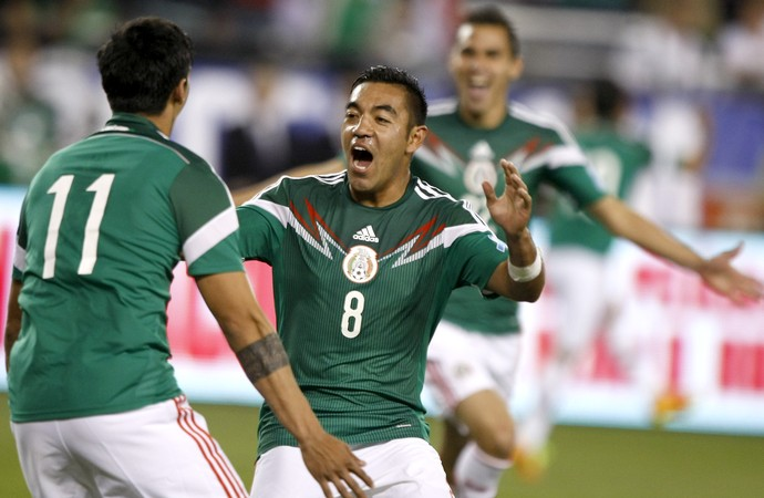 EUA 2 x 2 México, amistoso - AP (Foto: AP)