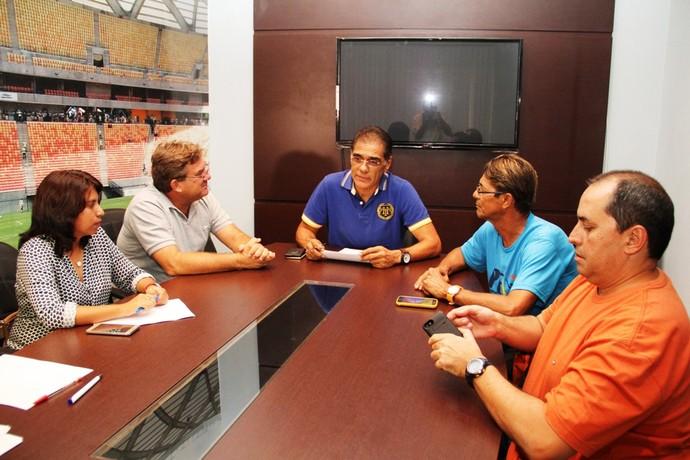 Reunião da FAF Copa Amazonas (Foto: Antônio Assis/FAF)