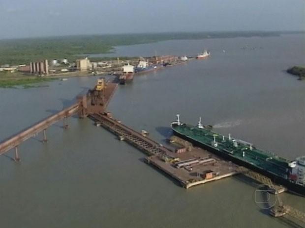 Complexo Portuário de São Luís, no Maranhão, já opera acima da capacidade limite (Foto: Reprodução/TV Globo)