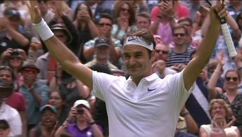 Roger Federer vence Steve Johnson  em Wimbledon e iguala recorde