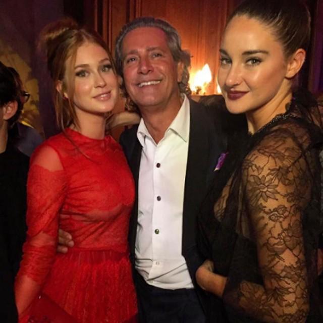 Marina Ruy Barbosa com  embaixador da Valentino e a atriz Shailene Woodley (Foto: Reprodução/Instagram)