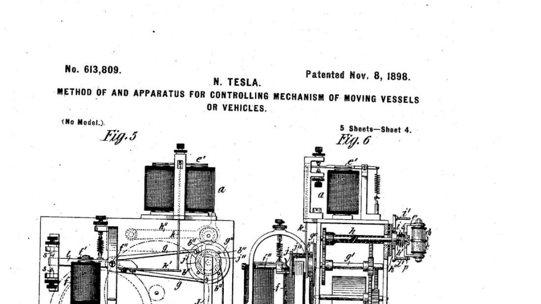 Trecho da patente de Tesla (Foto: Reprodução)