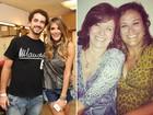 No Dia da Sogra, Felipe Andreoli brinca: 'Se a Rafa ficar igual a mãe, tá ótimo'
