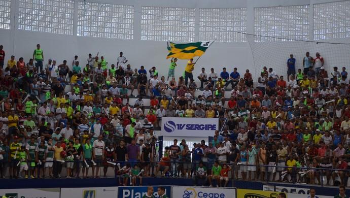 Torcida; Copa TV Sergipe de Futsal (Foto: João Áquila)