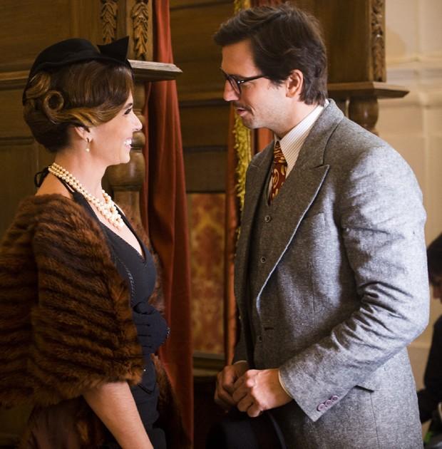 Giovanna Antonelli e Vladimir contracenam em nova série (Foto: João Miguel Junior/TV Globo)