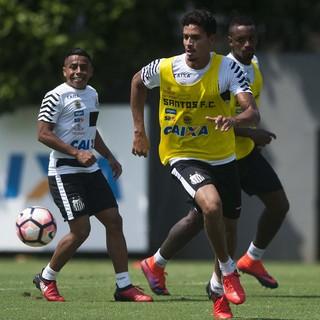 Lucas Veríssimo, Cleber e Vladimir Hernández - Santos (Foto: Ivan Storti/Santos FC)