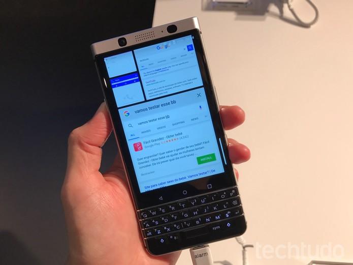 BlackBerry KEYone na MWC 2017 – Foto 04 – Thássius Veloso (Foto: Thássius Veloso/TechTudo)