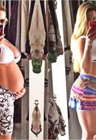 'Morro de saudades da minha barriga seca', diz Ana De Biase após dar à luz