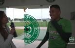 Jogadores do Coritiba são tímidos na hora de dar entrevista