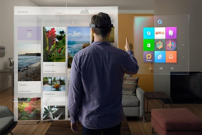 HoloLens lembra a tecnologia do filme Minority Report (Foto: Divulgação)
