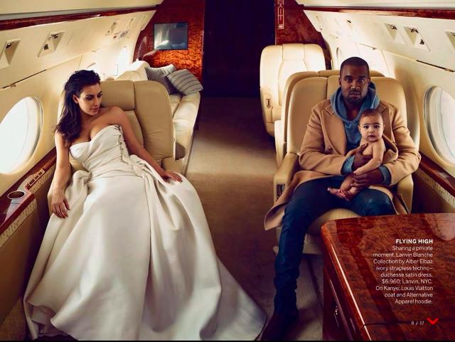 Foto do ensaio fotográfico de Kim e Kanye (Foto: Reprodução)