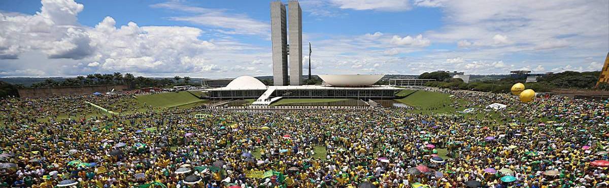 Manifestação Em Brasilia, 13 de março. (Foto: Adriano Machado/ Epoca)