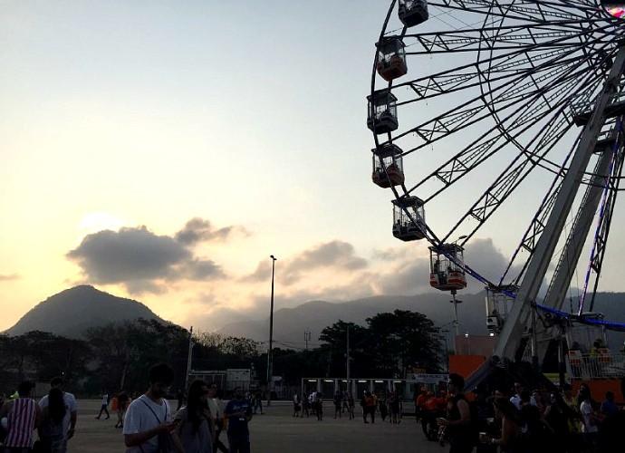 Céu com nuvens no Rock in Rio (Foto: Renata Viot/Gshow)