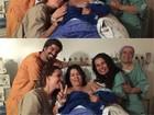 Suzana Alves posta foto após nascimento do filho: 'Muito feliz!'