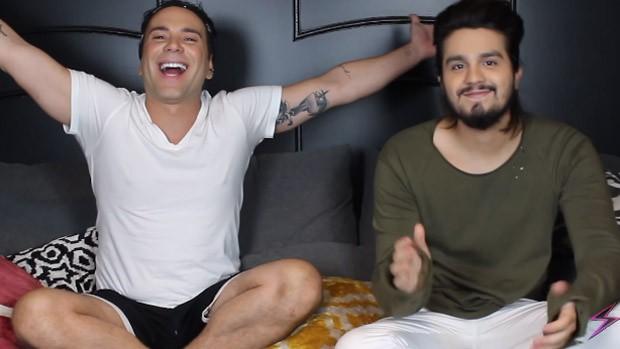 Matheus Mazzafera e Luan Santana (Foto: Reprodução)