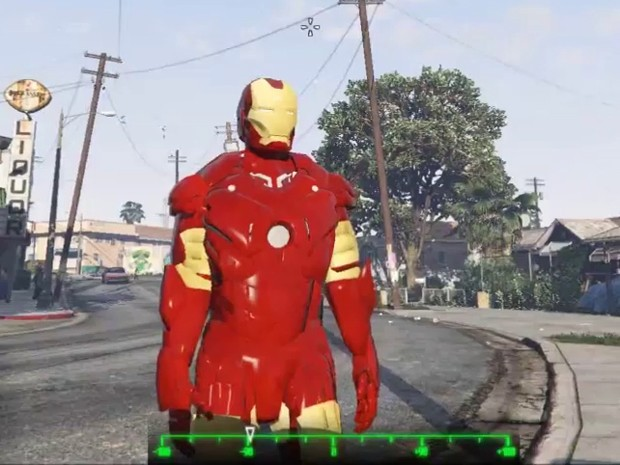 'Mod' que coloca Homem de Ferro dentro de 'GTA V' foi criado por brasileiro (Foto: Reprodução/YouTube/GTA X Scripting)