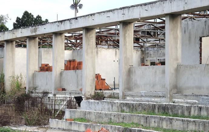 obras CT Ninho do Urubu (Foto: Cahê Mota)
