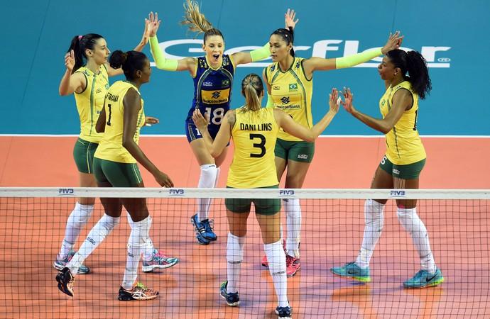 Brasil x Japão final Grand Prix vôlei (Foto: Divulgação/FIBV)