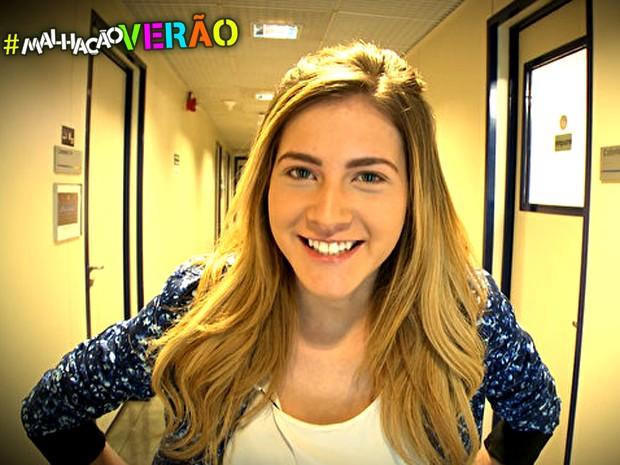 Maquiagem da Sofia arrasa em qualquer estação (Foto: Malhação / TV Globo)